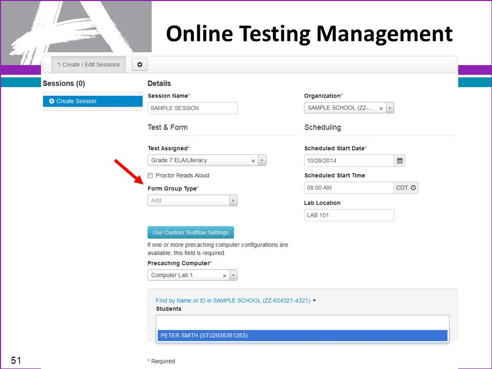 Online Testing Management 51