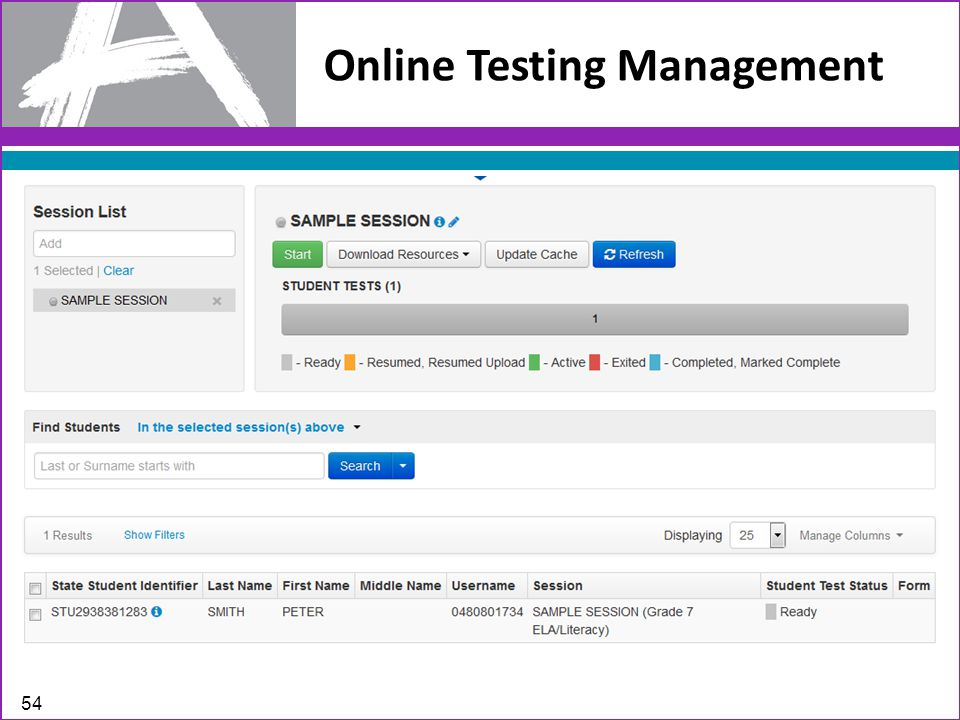 Online Testing Management 54