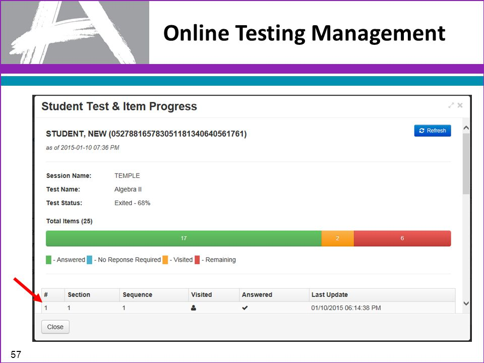 Online Testing Management 57