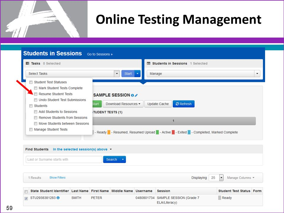 Online Testing Management 59