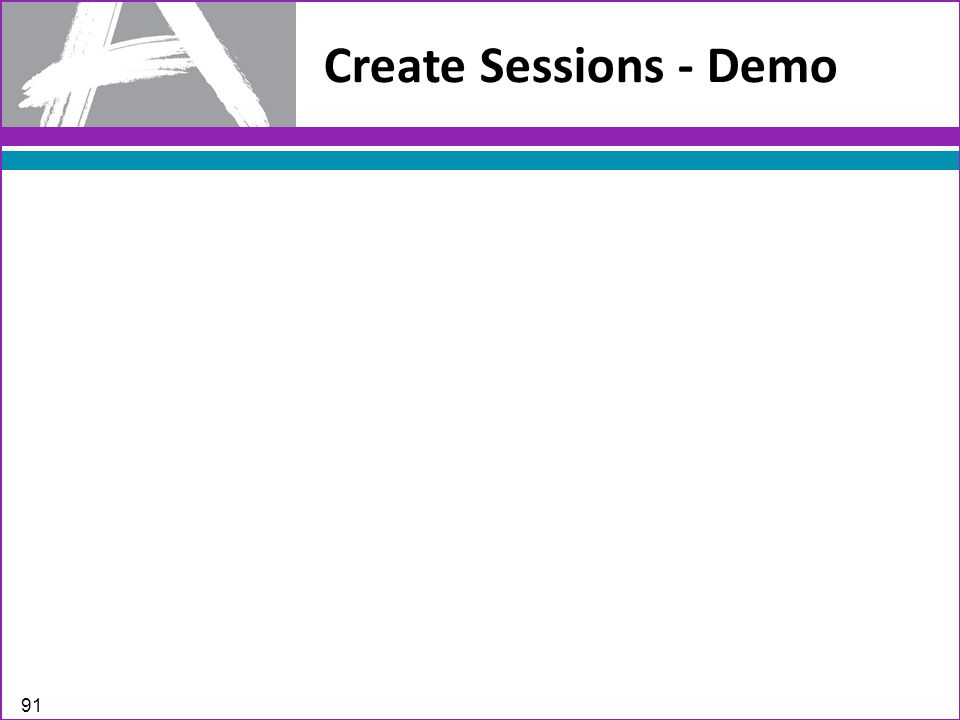 Create Sessions - Demo 91