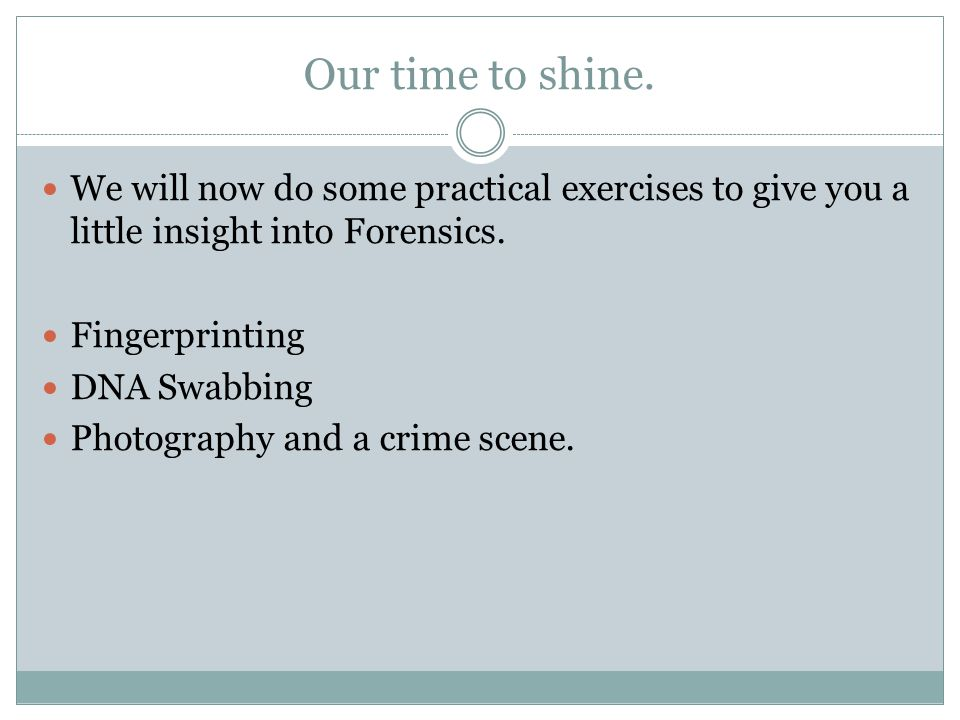 Forensic Profiling This is used in Police work a little bit and it is when psychologists try to understand the mind of a killer and why people do what they do.