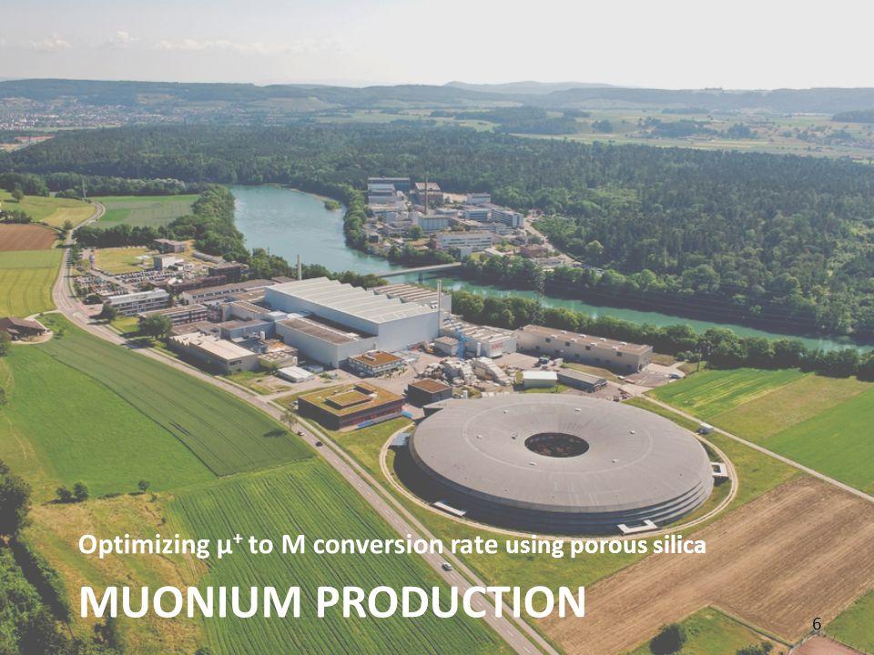 MUONIUM PRODUCTION Optimizing μ + to M conversion rate using porous silica 6 6