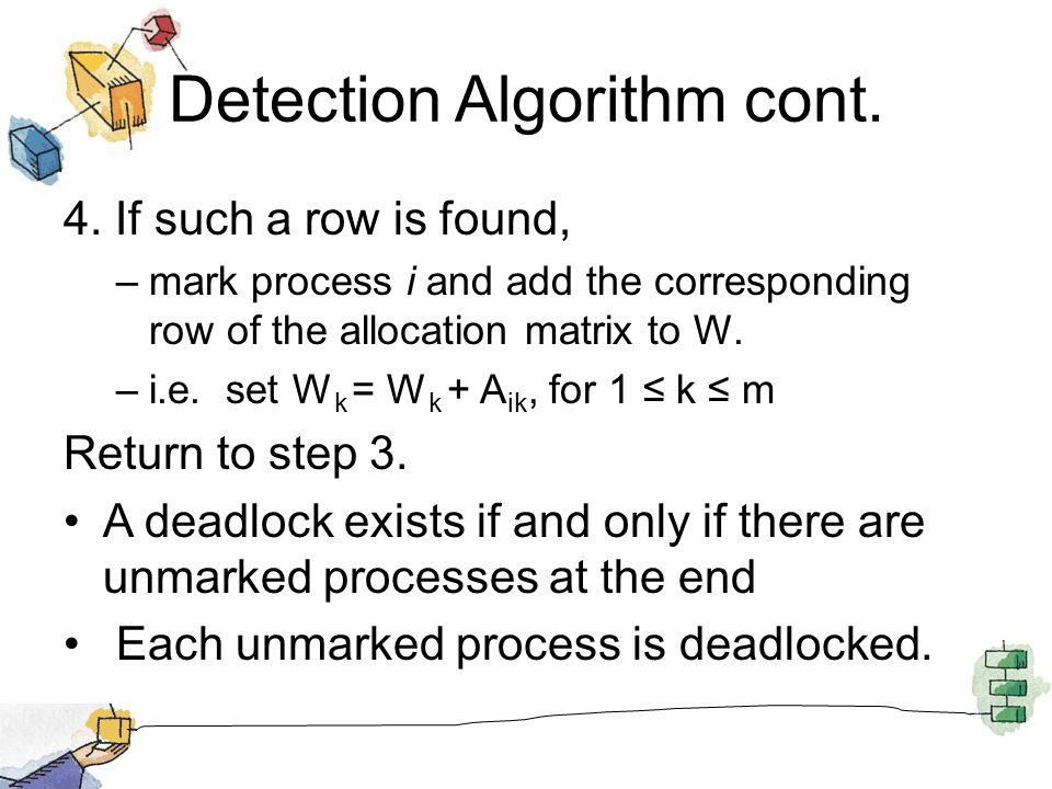 Detection Algorithm cont. 4.