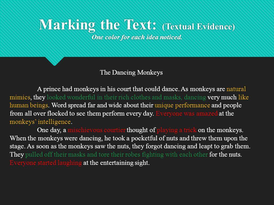 Organize Ideas and Textual Evidence Analysis Ideas 1.