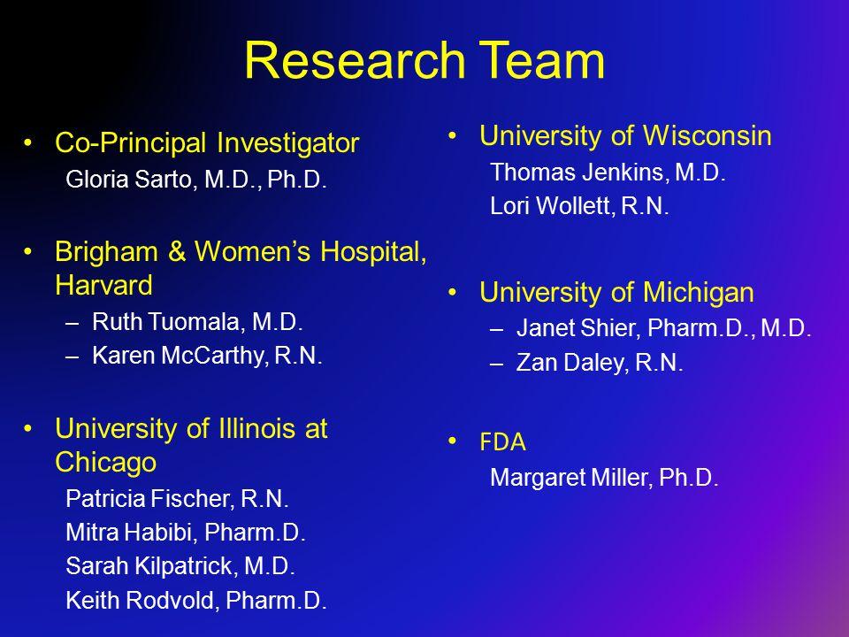 Research Team Co-Principal Investigator Gloria Sarto, M.D., Ph.D.