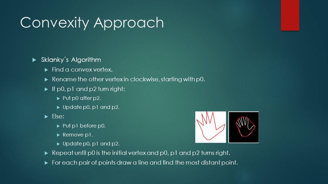 Convexity Approach  Sklanky´s Algorithm  Find a convex vertex.