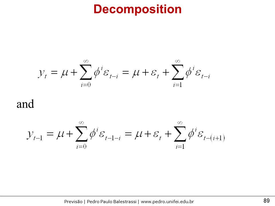 89 Previsão | Pedro Paulo Balestrassi | www.pedro.unifei.edu.br Decomposition and