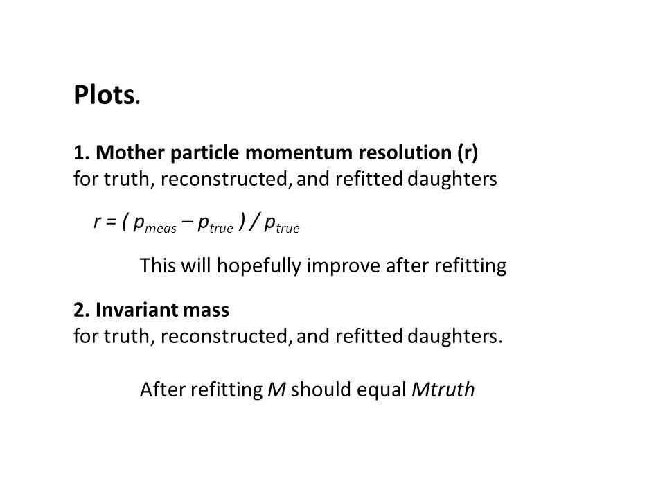 P = 8 GeV Truth Recon Refit