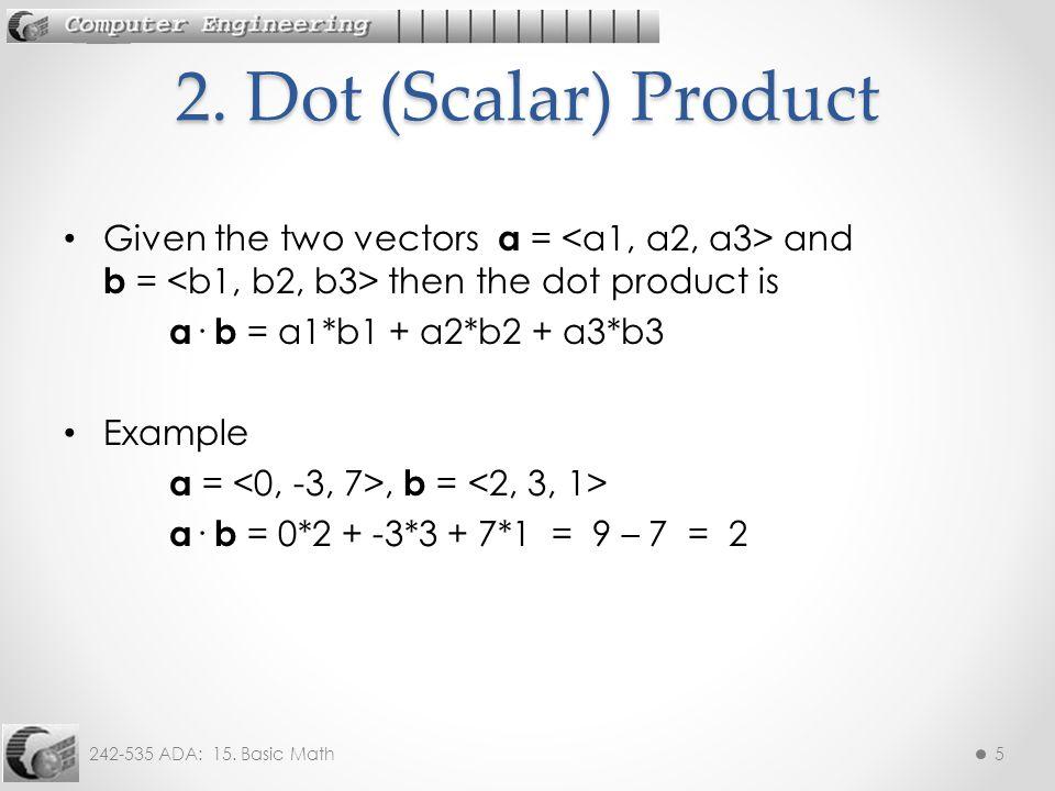 242-535 ADA: 15. Basic Math16Example