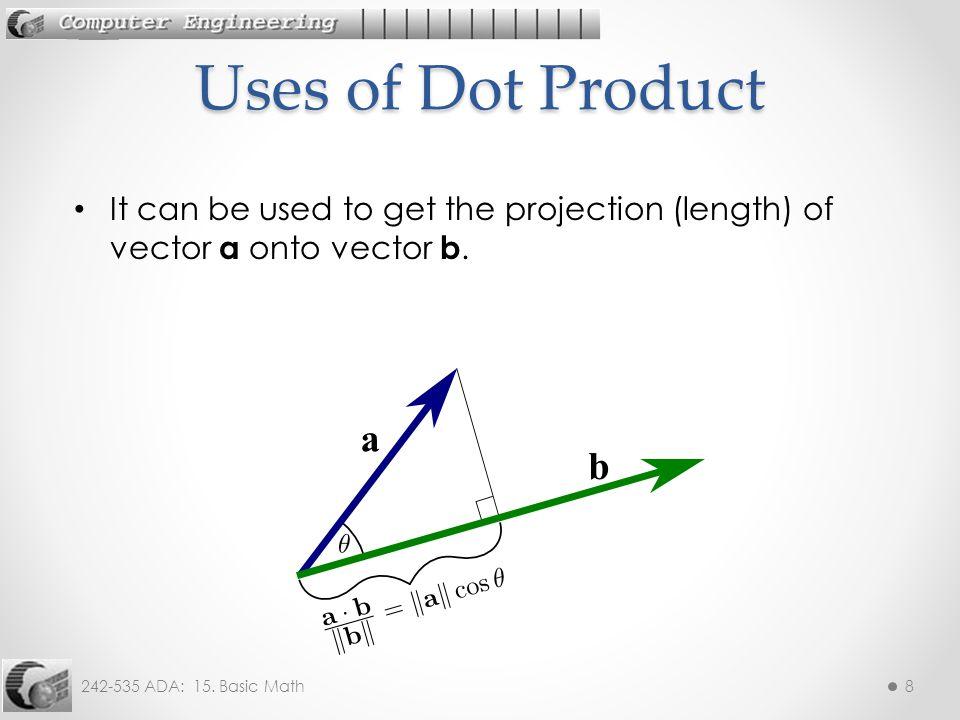 242-535 ADA: 15. Basic Math9 3. Cross (Vector) Product