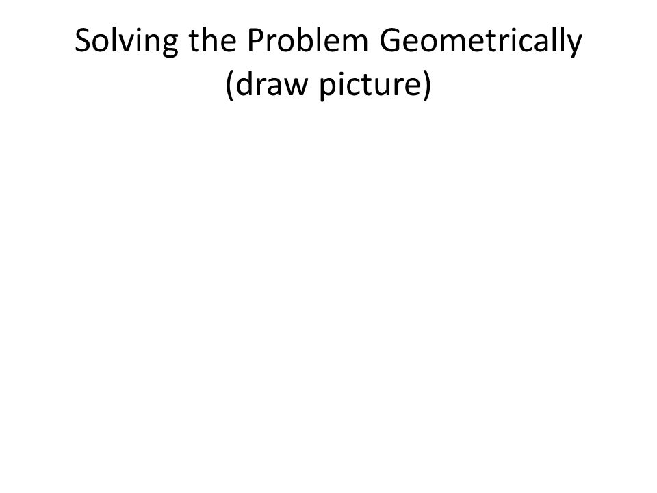 Solving the Problem Geometrically (draw picture)
