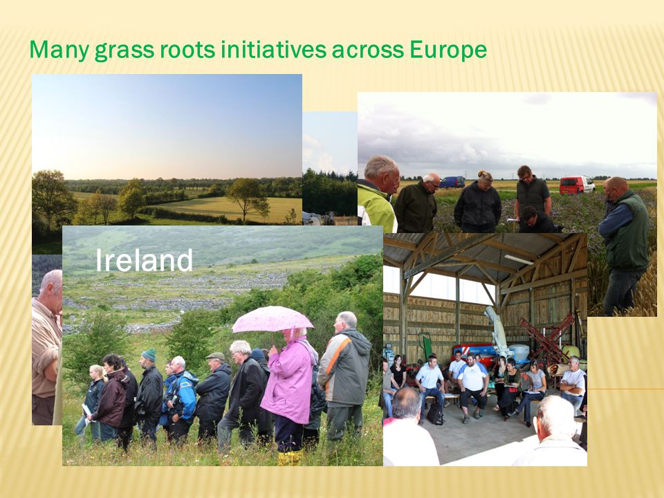 Many grass roots initiatives across Europe Ireland