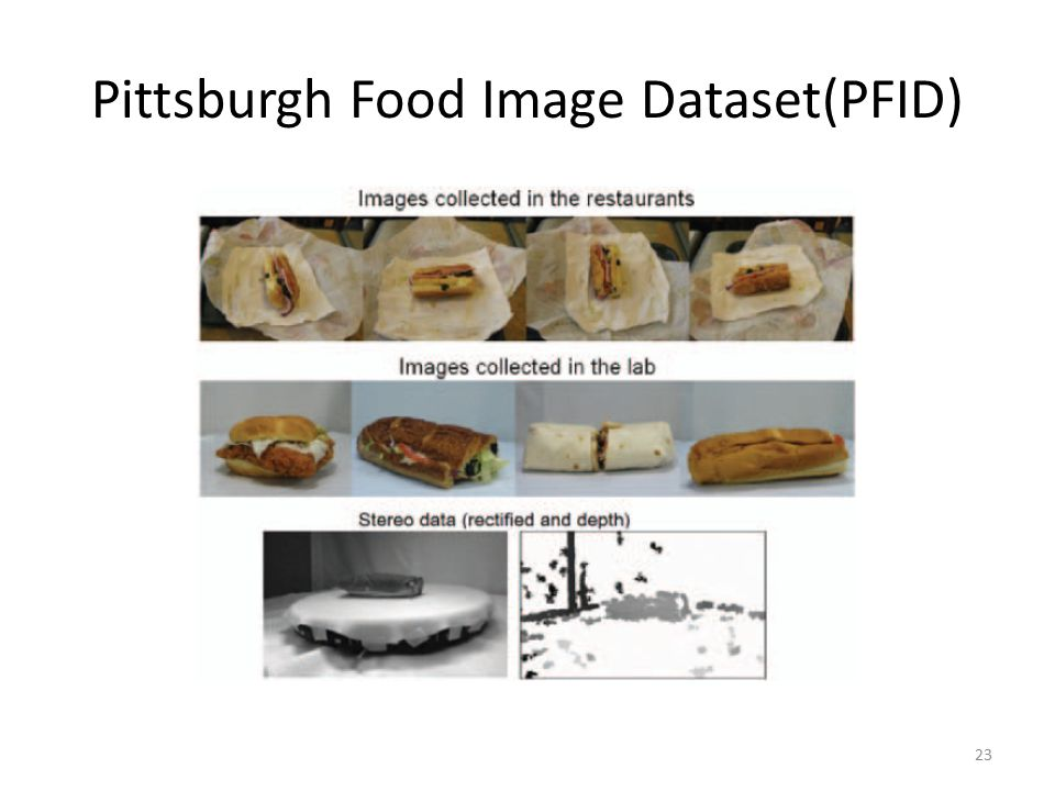 Pittsburgh Food Image Dataset(PFID) 23
