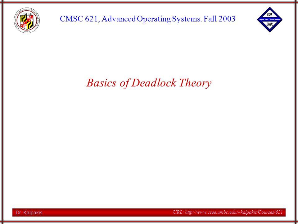CMSC 621, Fall 2003 12 URL: http://www.csee.umbc.edu/~kalpakis/Courses/621 P1 acquires one unit of R2 P1 P2 R2 R1