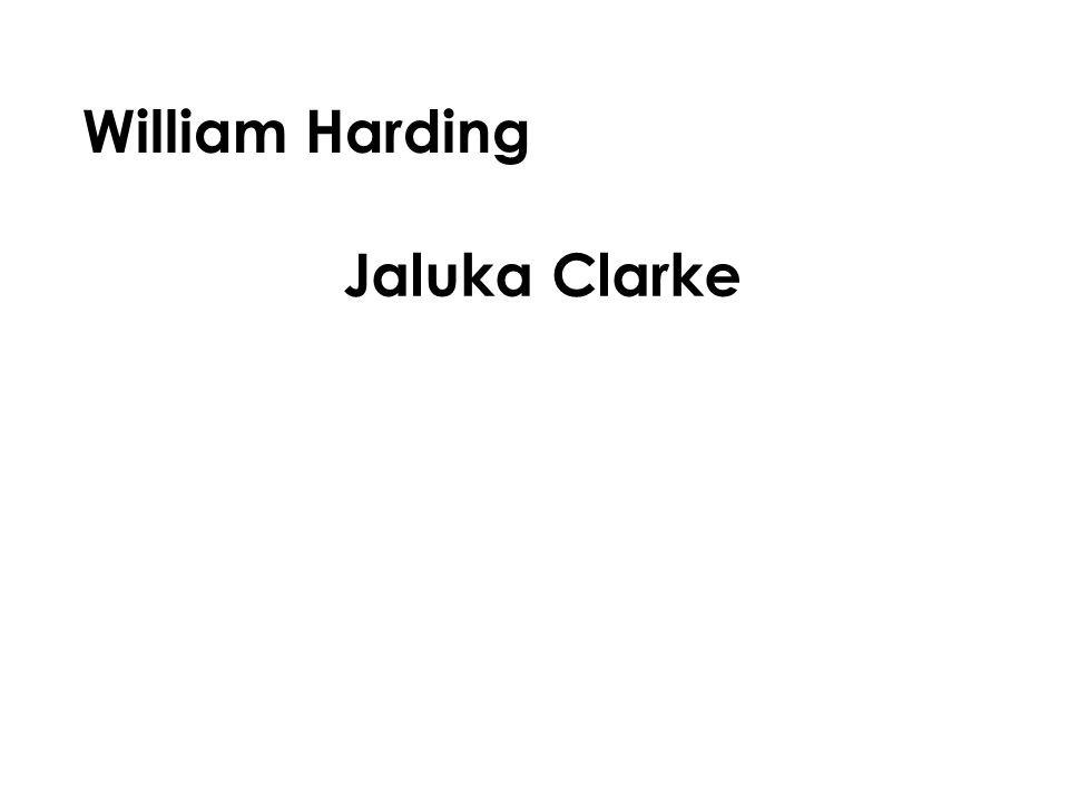 William Harding Jaluka Clarke