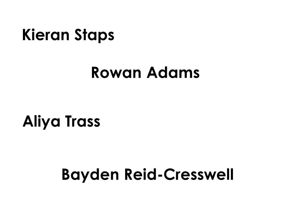 Kieran Staps Rowan Adams Aliya Trass Bayden Reid-Cresswell