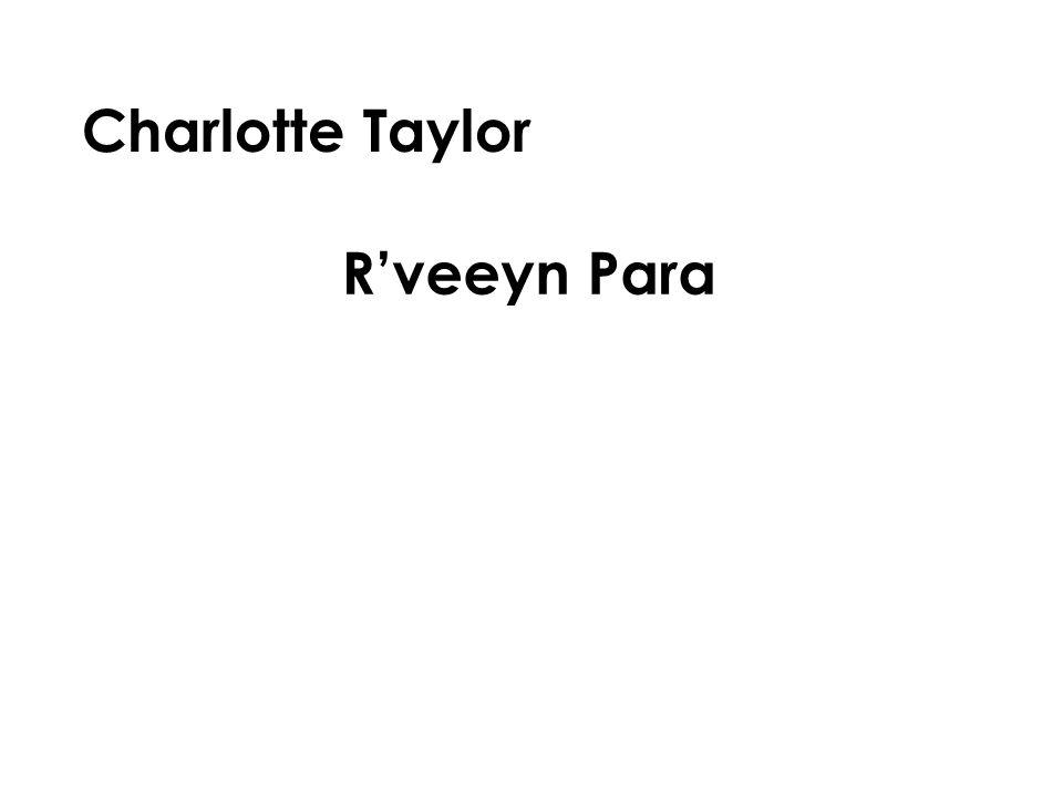 Charlotte Taylor R'veeyn Para