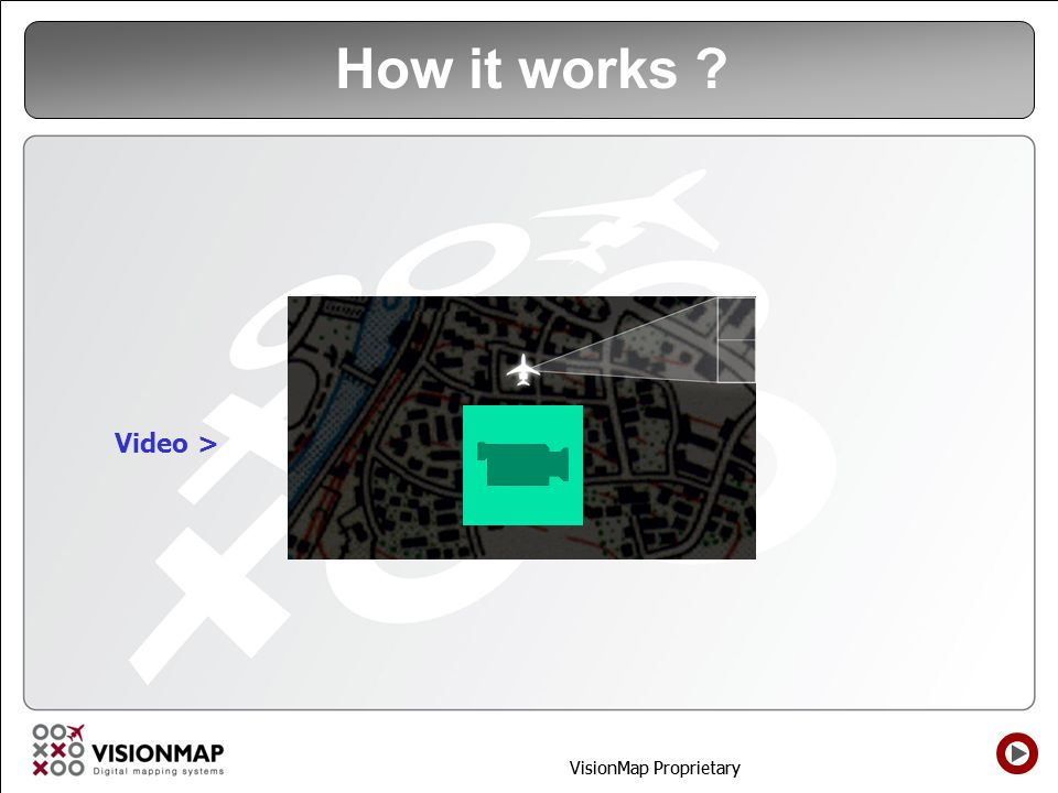 VisionMap Proprietary How it works ? Video >
