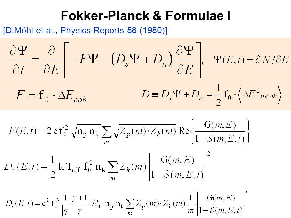 Fokker-Planck & Formulae I [D.Möhl et al., Physics Reports 58 (1980)]