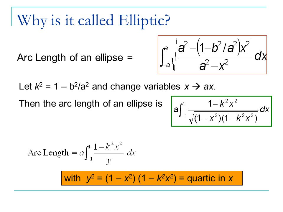 Why is it called Elliptic.