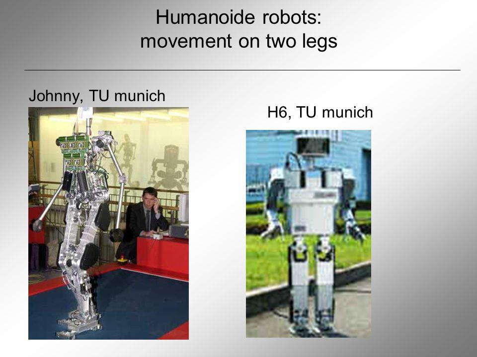 Humanoide robots: movement on two legs Johnny, TU munich H6, TU munich