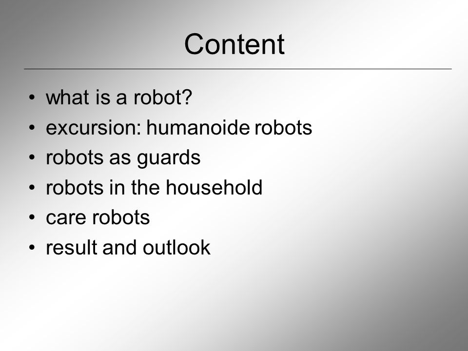 Humanoide robots: movement on two legs latest development from Sony – QURIO: first robot that is able to run and jump problem: brief loss of ground contact so far only prototype