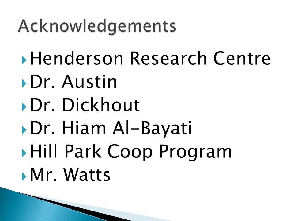  Henderson Research Centre  Dr. Austin  Dr. Dickhout  Dr.