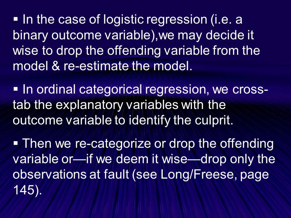  In the case of logistic regression (i.e.