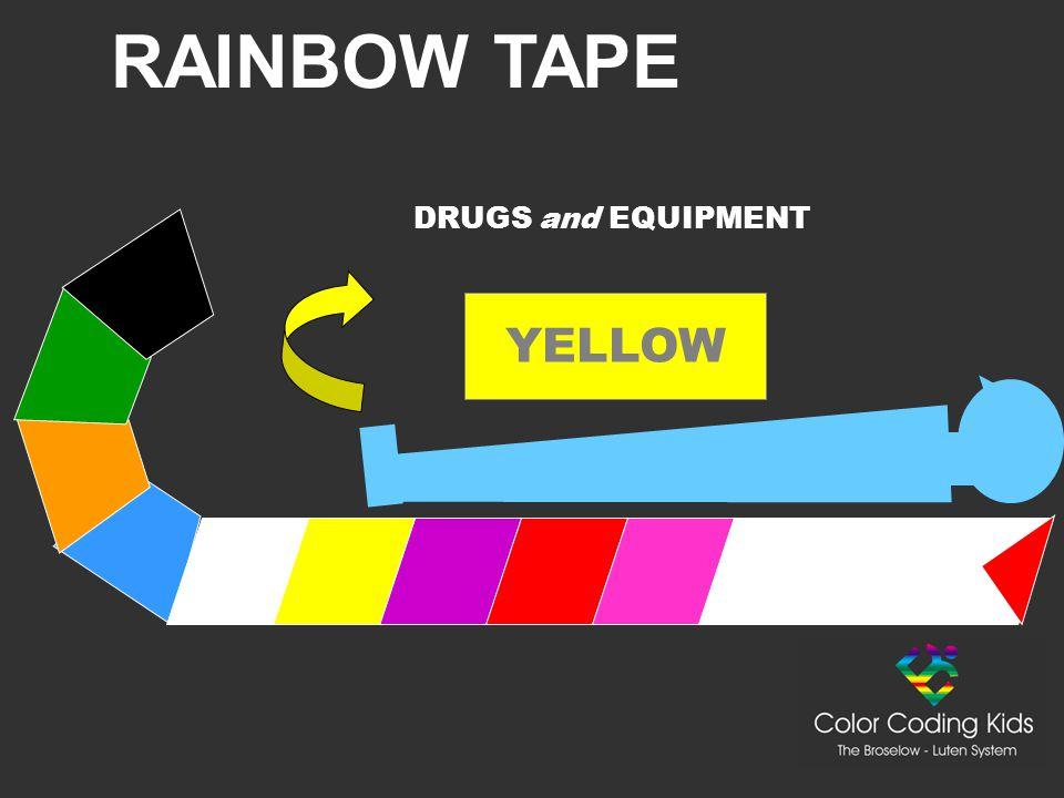 RAINBOW TAPE YELLOW DRUGS and EQUIPMENT