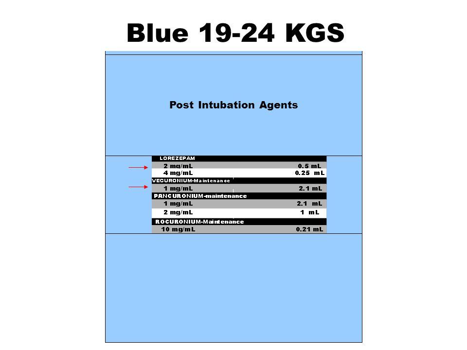 Blue 19-24 KGS Post Intubation Agents