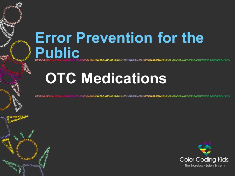 Error Prevention for the Public OTC Medications