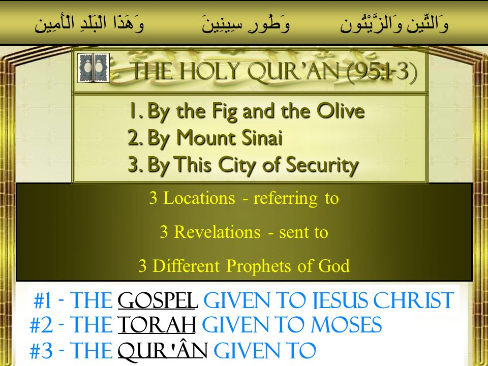 Muhammad in the bible The Commission of His Prophethood (The First Revelation) The Commission of His Prophethood (The First Revelation) His Migration (The Hijrah) His Migration (The Hijrah) His Night Journey (Sudden trip to Jerusalem) His Night Journey (Sudden trip to Jerusalem) His First Victory (the Battle of Badr) His First Victory (the Battle of Badr) His Great Triumph (the opening of Mecca) His Great Triumph (the opening of Mecca) His Farwell Pilgrimage (Sealing of the Message) His Farwell Pilgrimage (Sealing of the Message) Every Major Event of His Life: