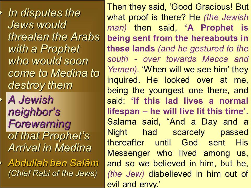 Muhammad in the bible Tema / Teman = Al Medina- (Medinatur-Rasulullâh) Tema / Teman = Al Medina- (Medinatur-Rasulullâh) says it is: an oasis just north of Medina says it is: an oasis just north of Medina Its settlers comprised of: Its settlers comprised of: 3 Jewish Tribes – 3 Jewish Tribes –  Banu Qainu Qâ'a  Banu Na'deer  Banu Quraitha 2 Arab Tribes – 2 Arab Tribes –  Aws  Khazraj Tema / Teman = Al Medina- (Medinatur-Rasulullâh) Tema / Teman = Al Medina- (Medinatur-Rasulullâh) says it is: an oasis just north of Medina says it is: an oasis just north of Medina Its settlers comprised of: Its settlers comprised of: 3 Jewish Tribes – 3 Jewish Tribes –  Banu Qainu Qâ'a  Banu Na'deer  Banu Quraitha 2 Arab Tribes – 2 Arab Tribes –  Aws  Khazraj (J.
