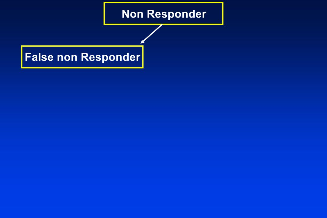 False non Responder