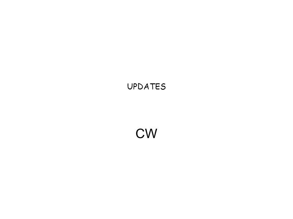 UPDATES CW