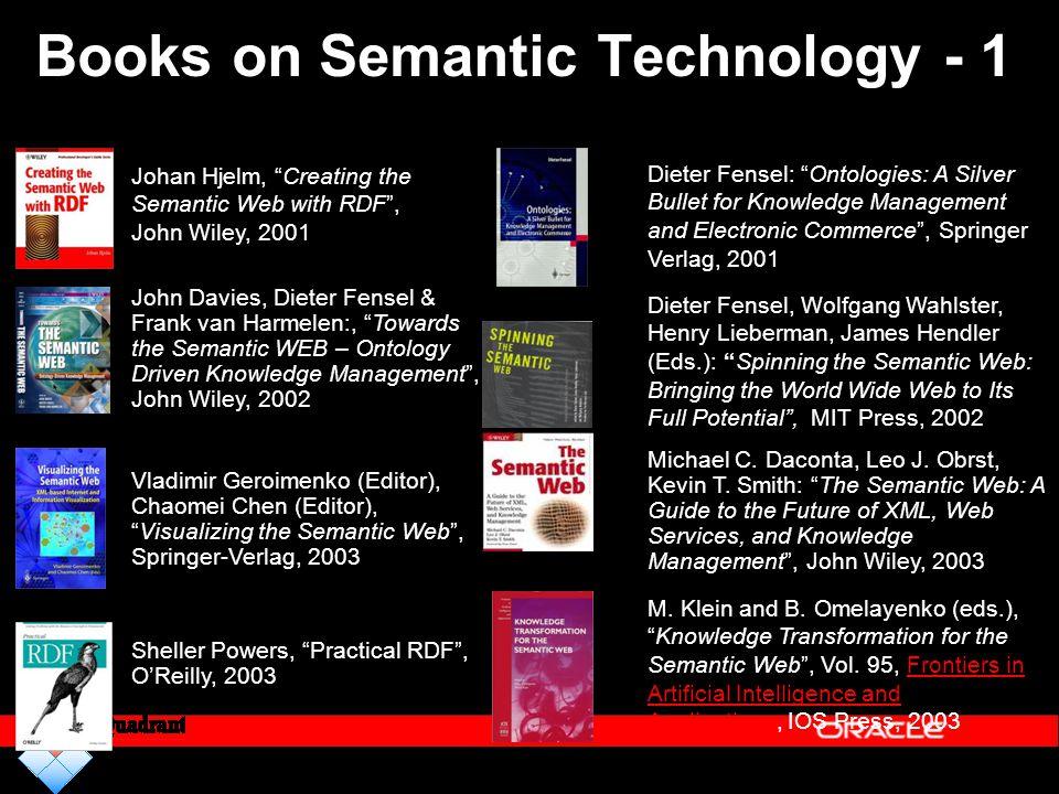 "Books on Semantic Technology - 1 Dieter Fensel, Wolfgang Wahlster, Henry Lieberman, James Hendler (Eds.): ""Spinning the Semantic Web: Bringing the Wor"