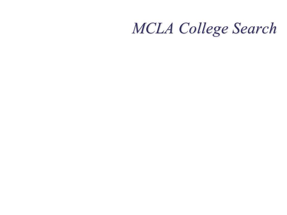 MCLA College Search