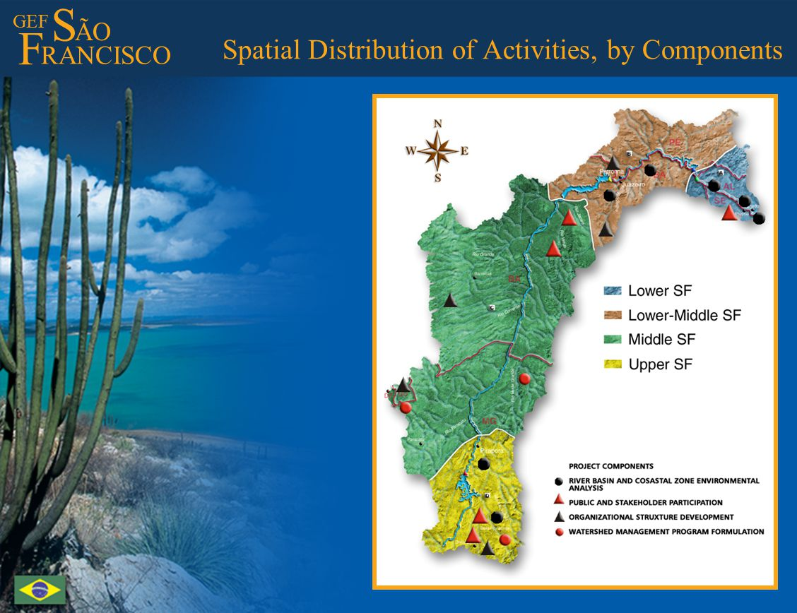 GEF S ÃO F RANCISCO Spatial Distribution of Activities, by Components