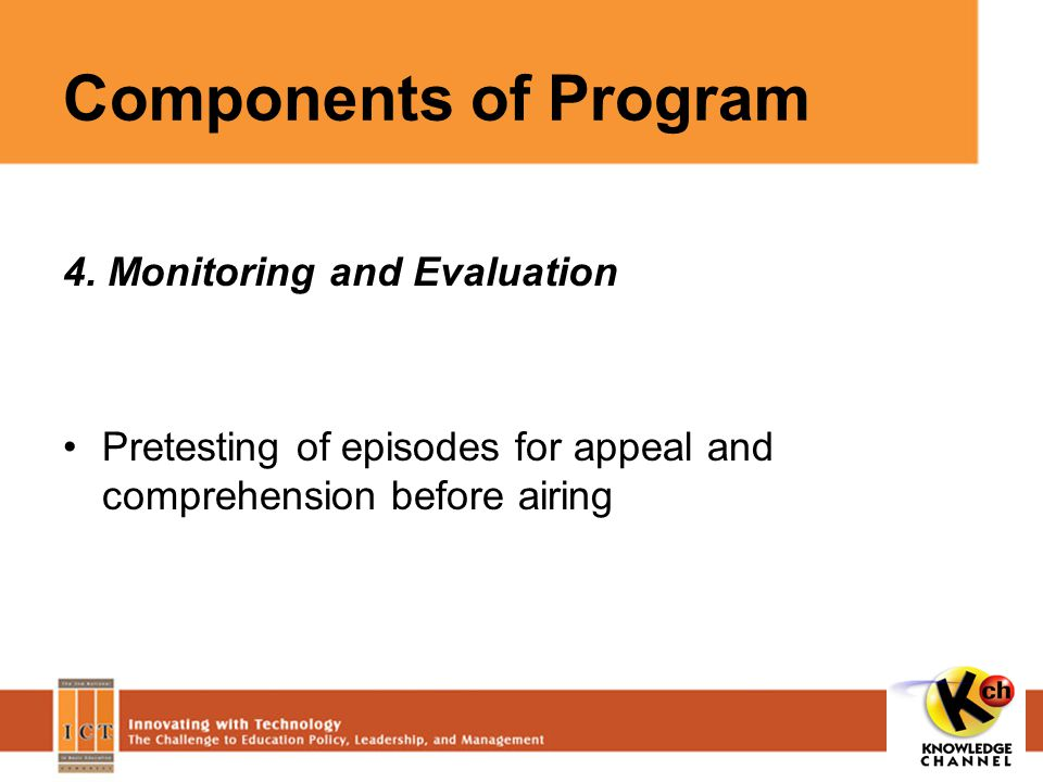 Components of Program 4.