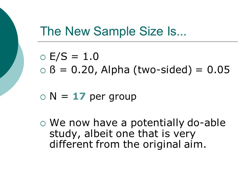 The New Sample Size Is...