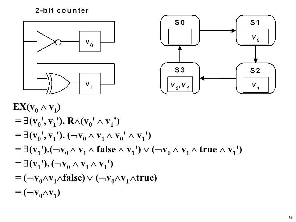 48 EX(v 0  v 1 ) =  (v 0 , v 1 ). R  (v 0  v 1 ) =  (v 0 , v 1 ).