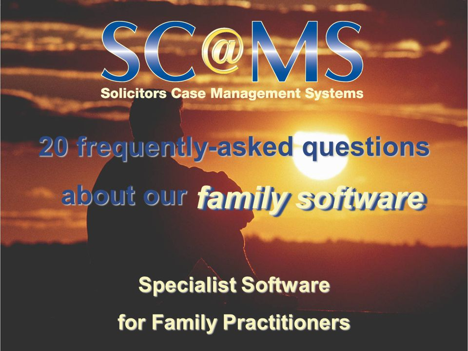 Specialist Software for Family Practitioners 6. What will the system do for my practice? filesfiles