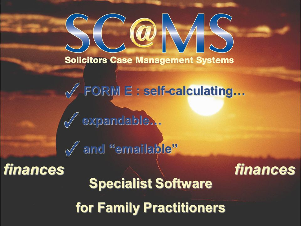 Specialist Software for Family Practitioners FORM E : self-calculating… expandable… and emailable financesfinances