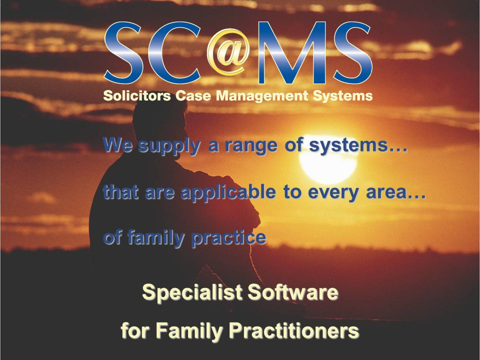 Specialist Software for Family Practitioners will benefit any type of family work… regardless of your areas of practice Our system… filesfiles