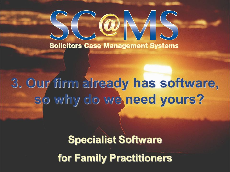 Specialist Software for Family Practitioners We have many more systems… that are specifically geared… to family practitioners