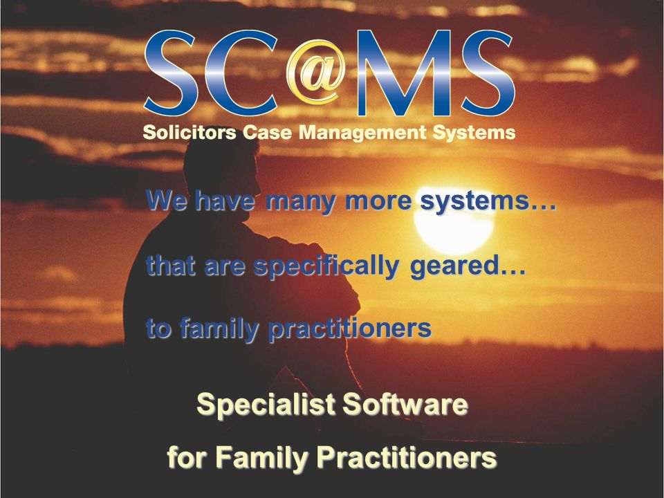 Specialist Software for Family Practitioners 12. Who is currently using your family software?