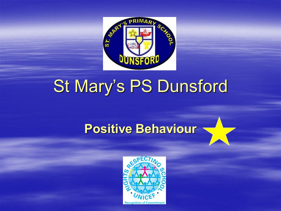 St Mary's PS, Dunsford St Mary's PS, Dunsford Be assertive.