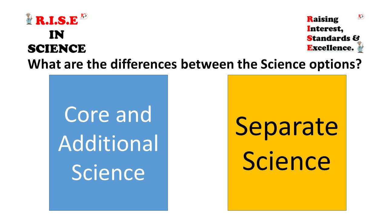 Core and Additional Science Separate Science What are the differences between the Science options