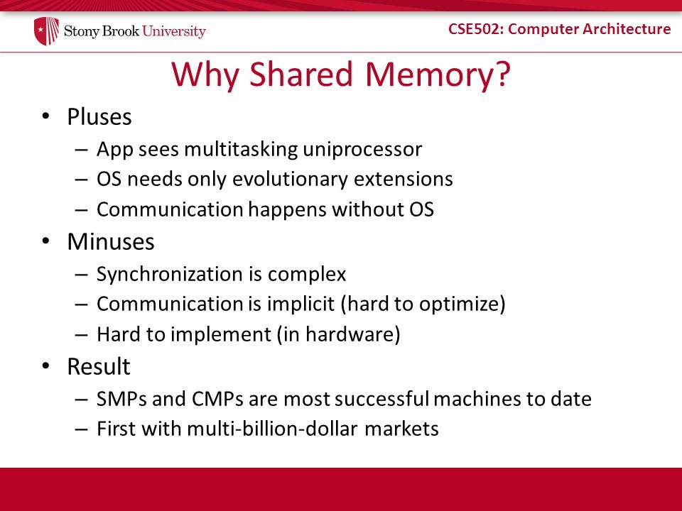 CSE502: Computer Architecture Paired vs.Separate Processor/Memory.